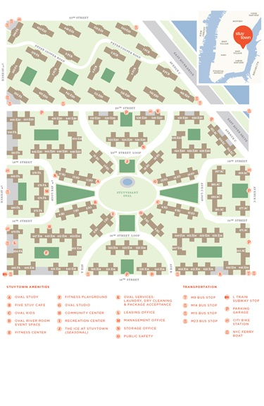 Stuyvesant Town Map Property Map | StuyTown   Peter Cooper Village